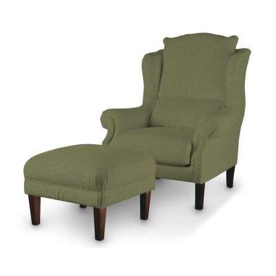 Podnóżek do fotela w kolekcji Madrid, tkanina: 161-22