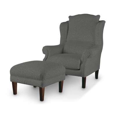 Podnóżek do fotela w kolekcji Madrid, tkanina: 161-24
