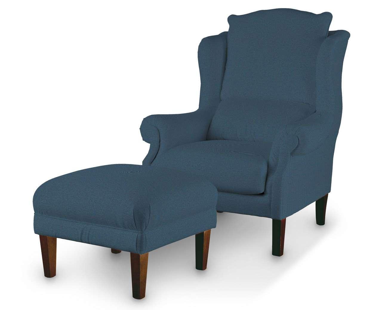 Podnóżek do fotela w kolekcji Etna, tkanina: 705-30
