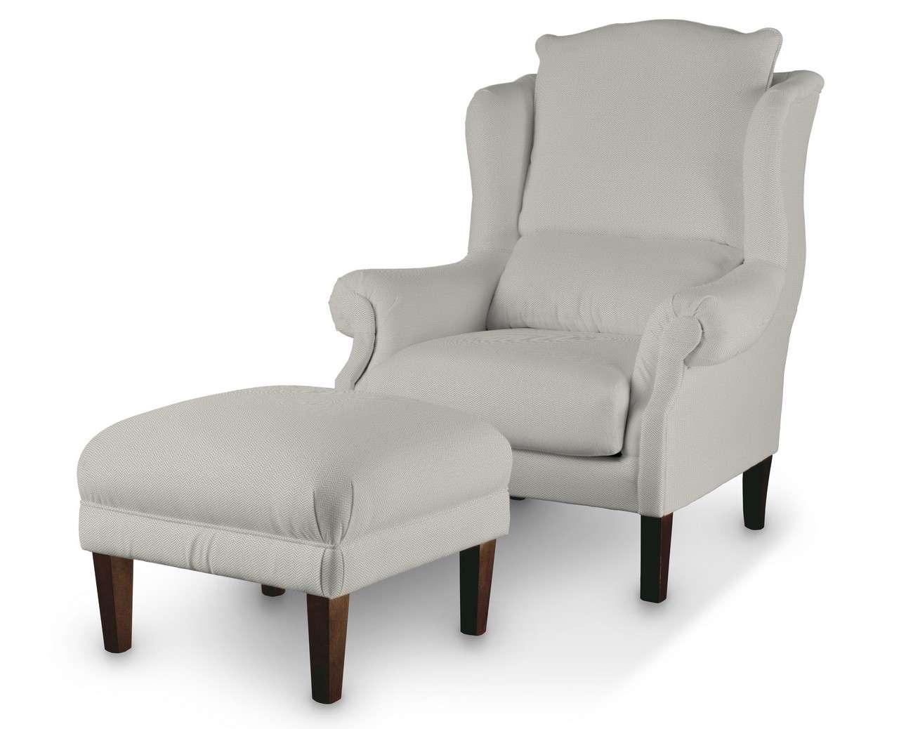 Podnóżek do fotela w kolekcji Bergen, tkanina: 161-84