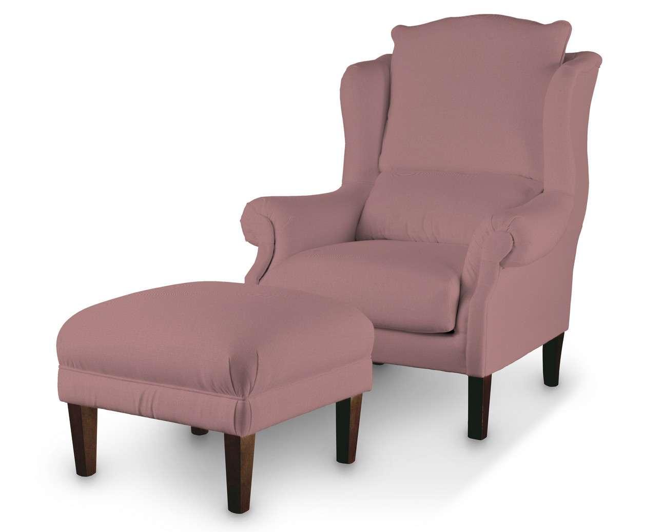 Podnóżek do fotela w kolekcji Cotton Panama, tkanina: 702-43