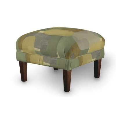 Podnóżek do fotela 143-72 geometryczne wzory w zielono-brązowej kolorystyce Kolekcja Vintage 70's