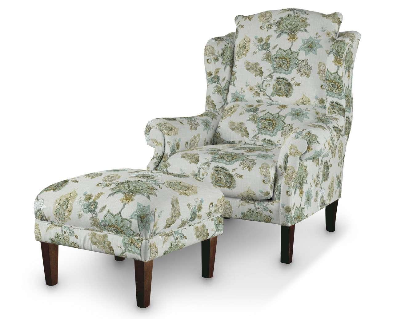 Podnóżek do fotela w kolekcji Flowers, tkanina: 143-67