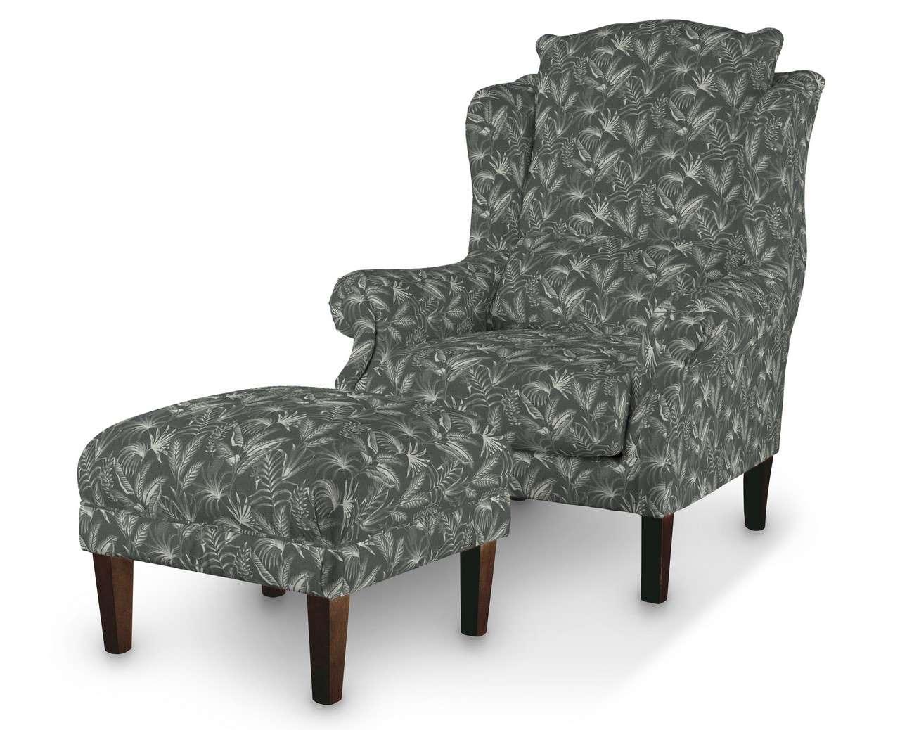 Podnóżek do fotela w kolekcji Flowers, tkanina: 143-73