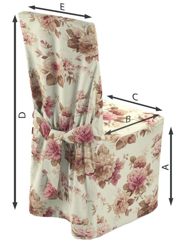 Sukienka na krzesło 45x94 cm w kolekcji Mirella, tkanina: 141-06