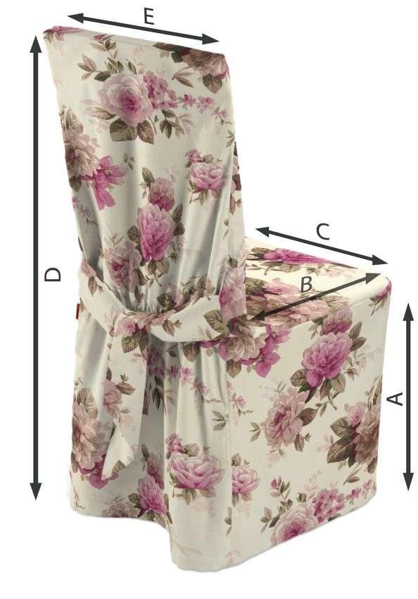 Sukienka na krzesło 45x94 cm w kolekcji Mirella, tkanina: 141-07