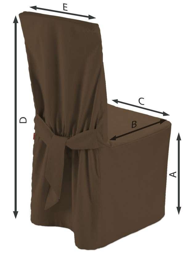 Sukienka na krzesło 45x94 cm w kolekcji Cotton Panama, tkanina: 702-02