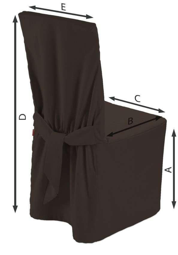 Sukienka na krzesło 45x94 cm w kolekcji Cotton Panama, tkanina: 702-03