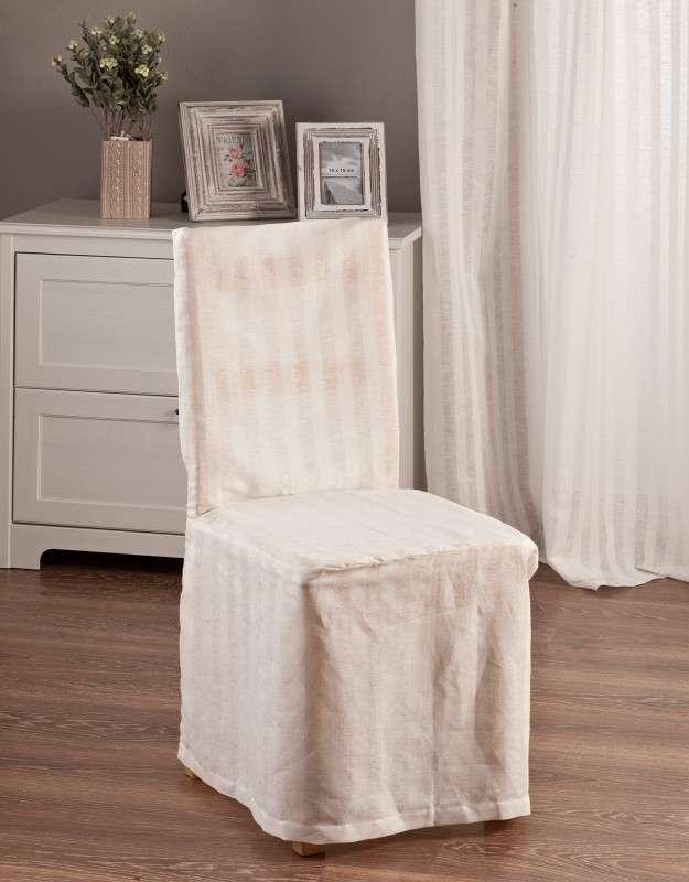 Návlek na židli v kolekci Linen, látka: 392-03