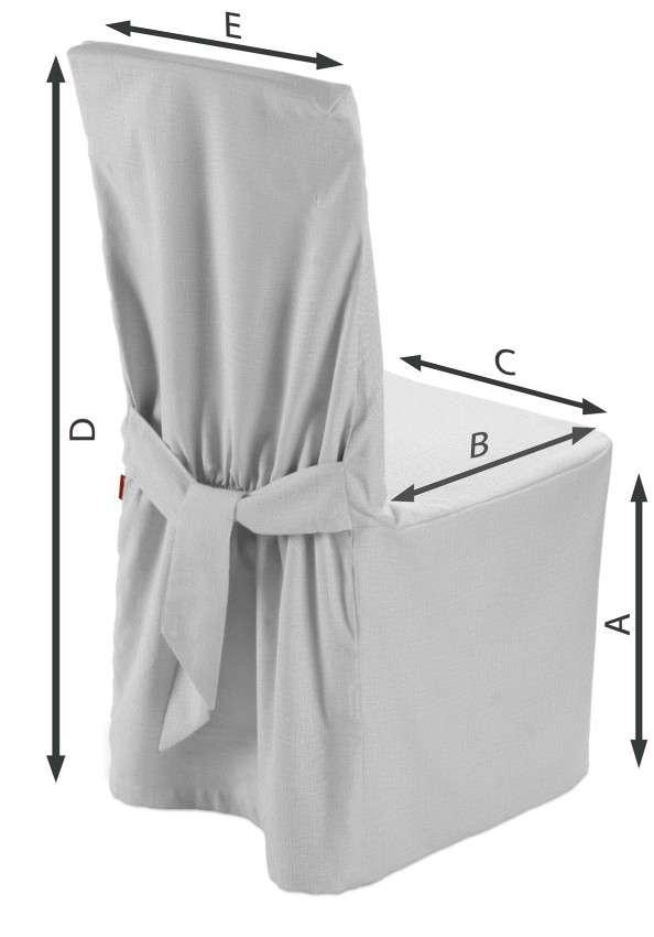 Sukienka na krzesło 45x94 cm w kolekcji Linen, tkanina: 392-04