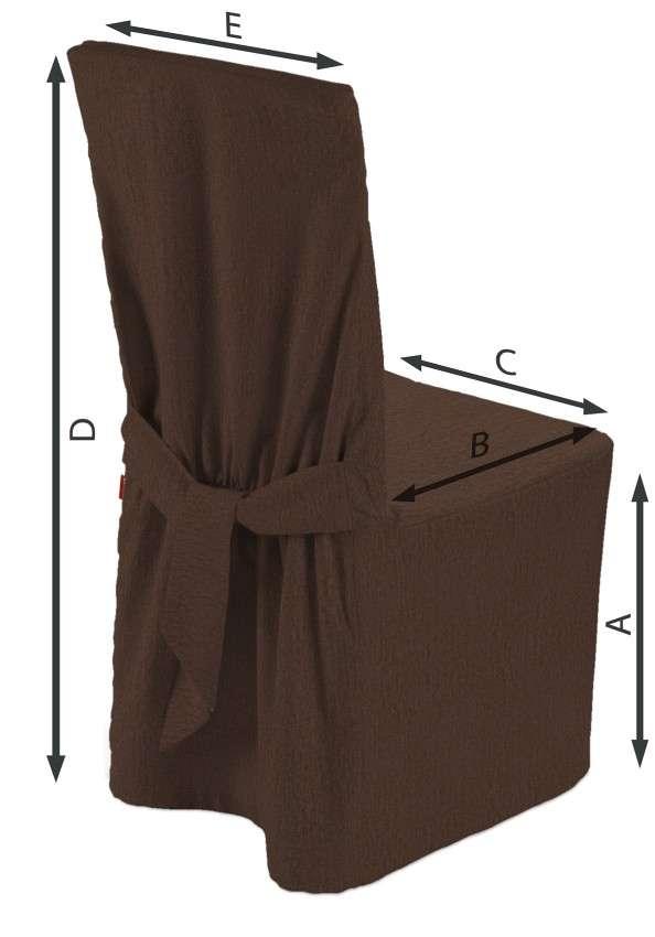Sukienka na krzesło 45x94 cm w kolekcji Chenille, tkanina: 702-18