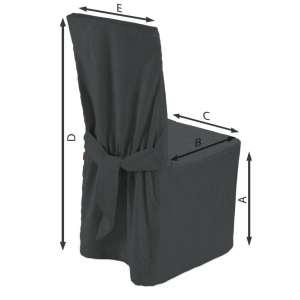 Stuhlhusse 45 x 94 cm von der Kollektion Chenille , Stoff: 702-20