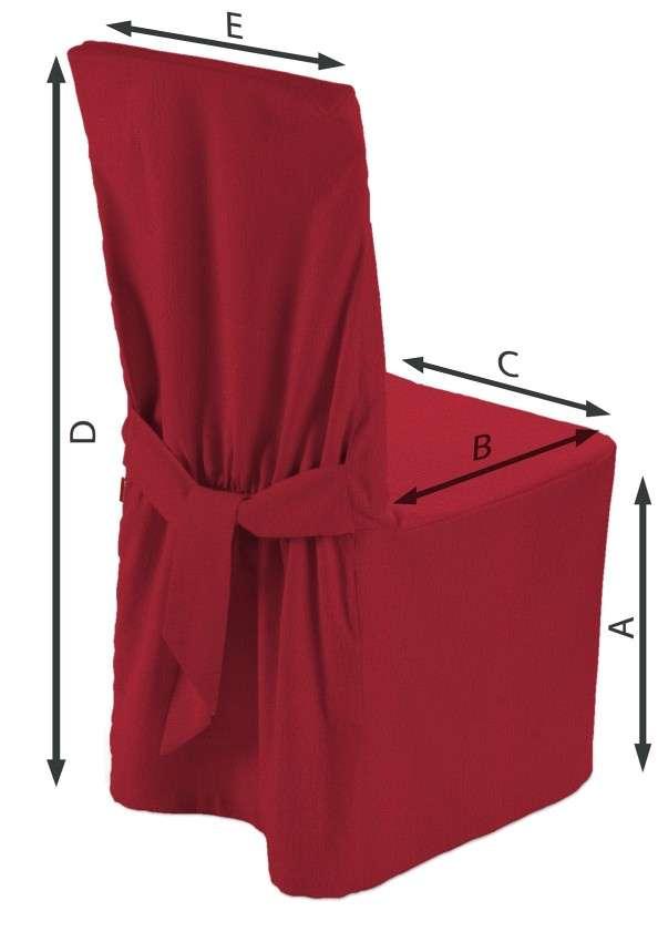 Sukienka na krzesło 45x94 cm w kolekcji Chenille, tkanina: 702-24