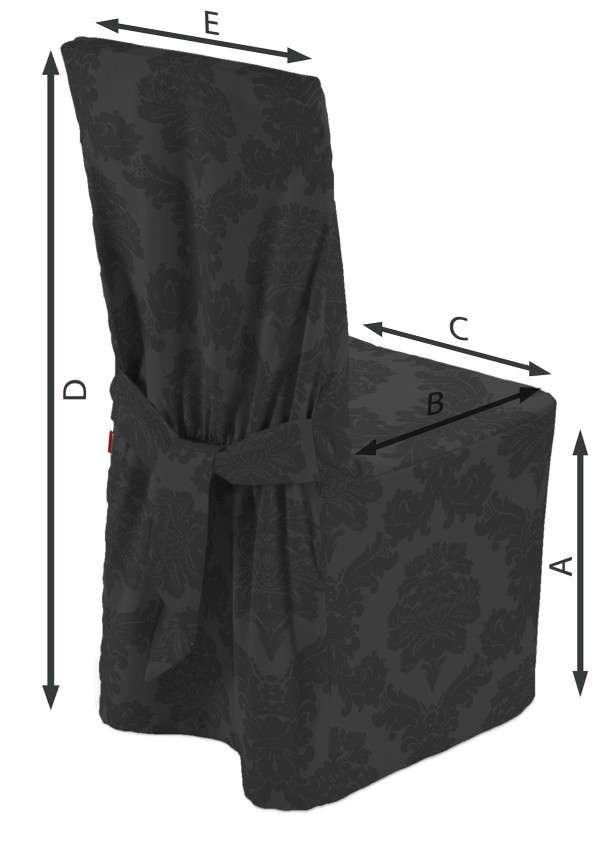 Návlek na stoličku V kolekcii Damasco, tkanina: 613-32