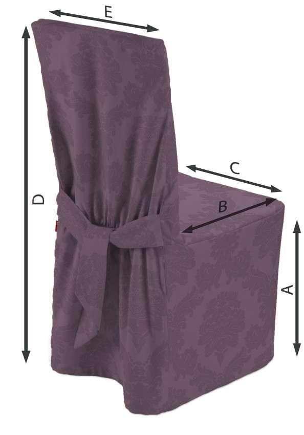 Sukienka na krzesło w kolekcji Damasco, tkanina: 613-75