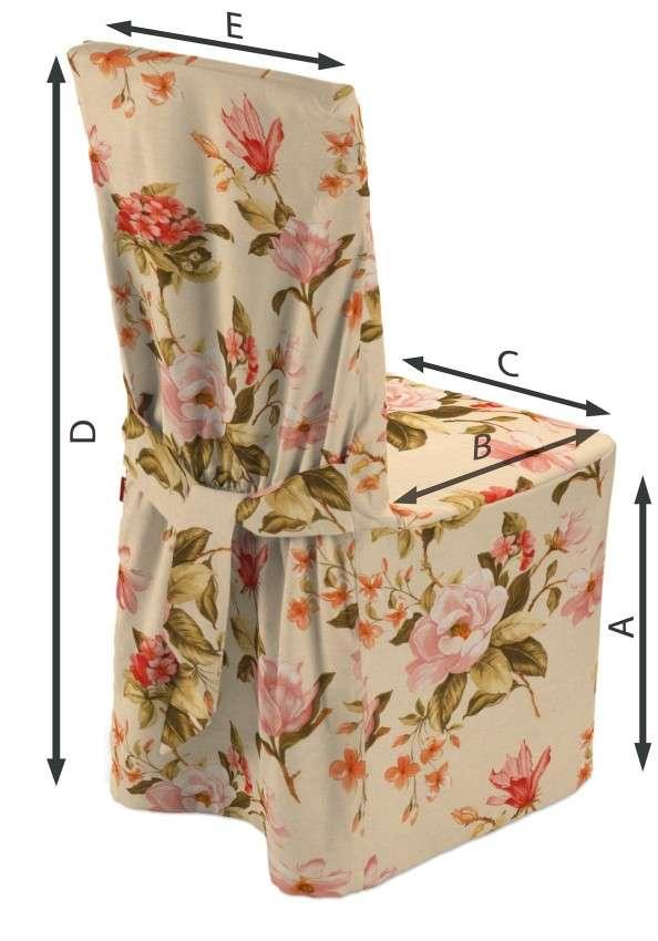 Sukienka na krzesło 45x94 cm w kolekcji Londres, tkanina: 123-05