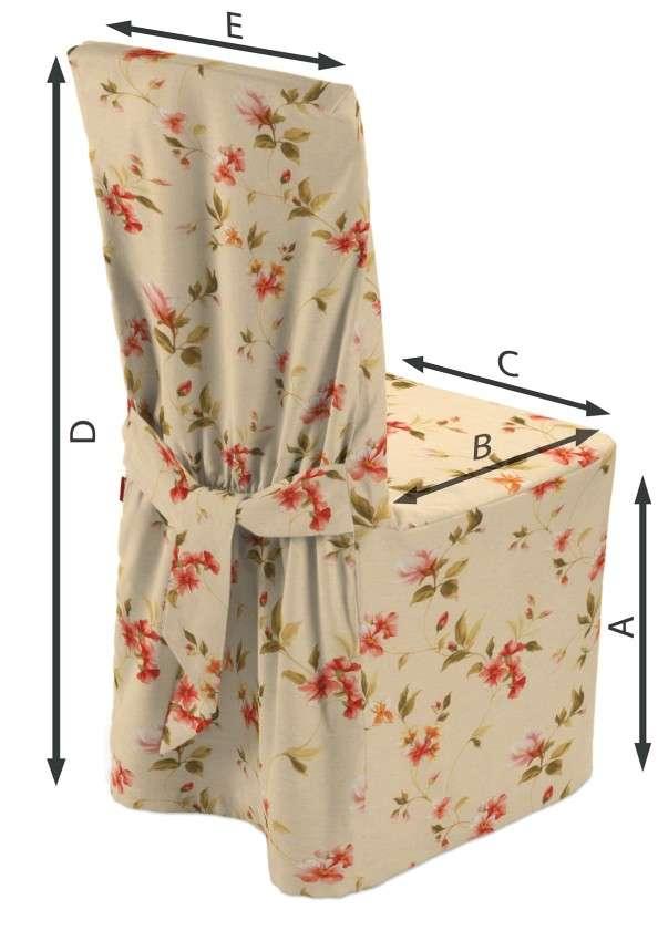 Sukienka na krzesło 45x94 cm w kolekcji Londres, tkanina: 124-05