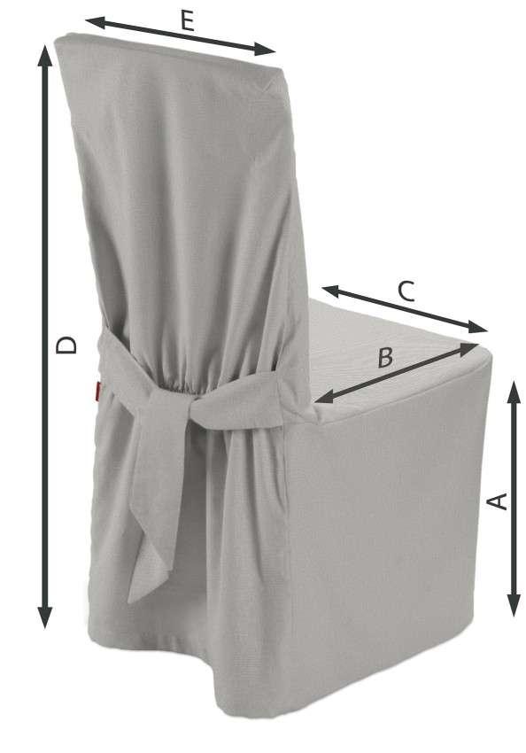 Sukienka na krzesło 45x94 cm w kolekcji Etna , tkanina: 705-90