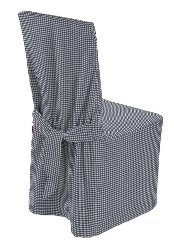 Standard And Made To Measure Chair Cover Navy Blue And