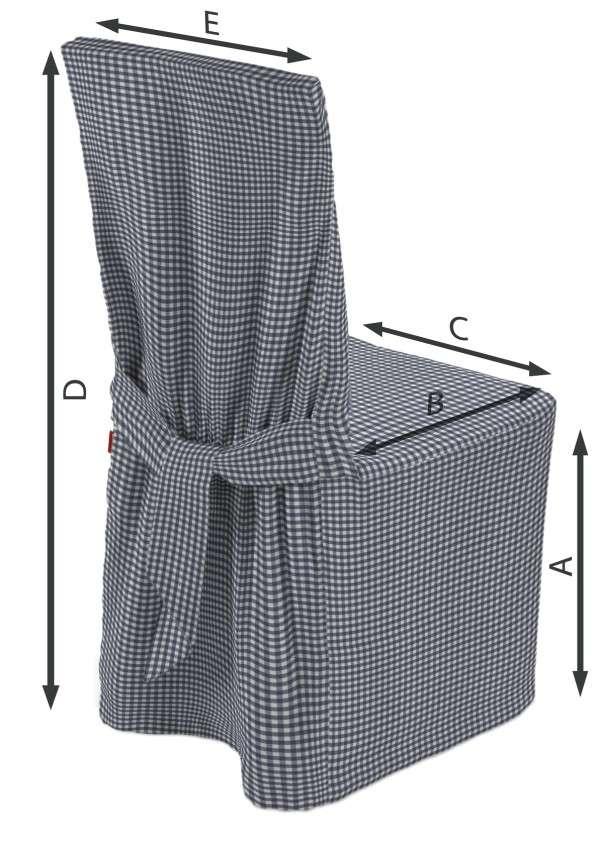 Sukienka na krzesło 45x94 cm w kolekcji Quadro, tkanina: 136-00
