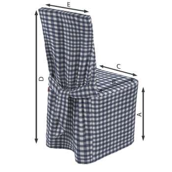 Návlek na stoličku 45 × 94 cm V kolekcii Quadro, tkanina: 136-01