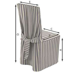 Sukienka na krzesło 45x94 cm w kolekcji Quadro, tkanina: 136-02