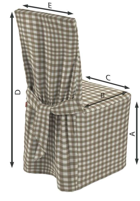 Stuhlhusse von der Kollektion Quadro, Stoff: 136-06