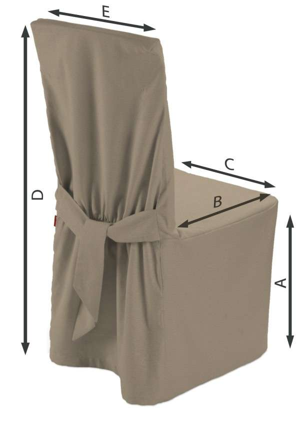Sukienka na krzesło 45x94 cm w kolekcji Quadro, tkanina: 136-09