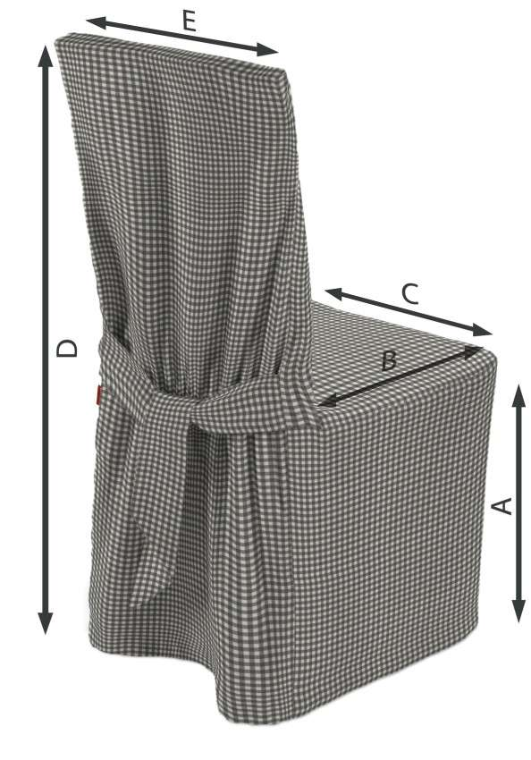 Įvairių kėdžių užvalkalai  45 × 94 cm kolekcijoje Quadro, audinys: 136-10