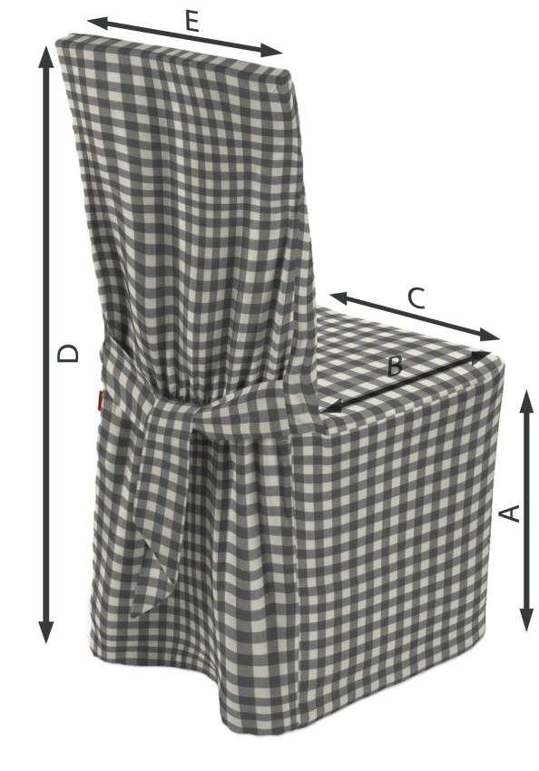 Stuhlhusse 45 x 94 cm von der Kollektion Quadro, Stoff: 136-11