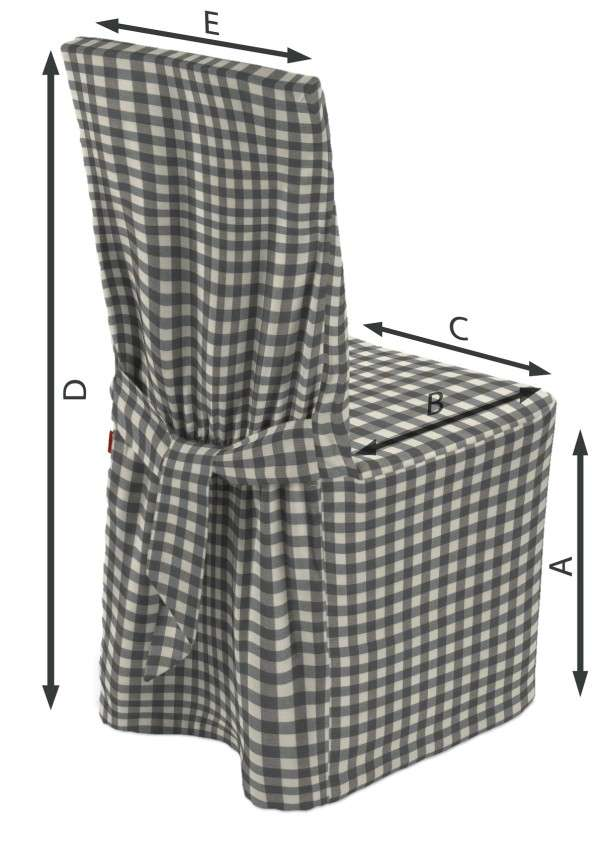 Sukienka na krzesło 45x94 cm w kolekcji Quadro, tkanina: 136-11