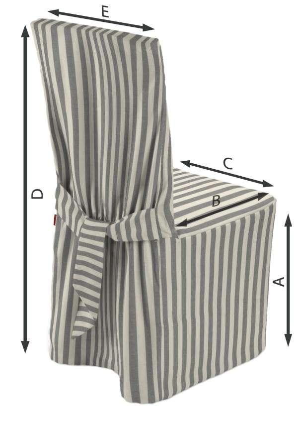 Návlek na židli v kolekci Quadro, látka: 136-12