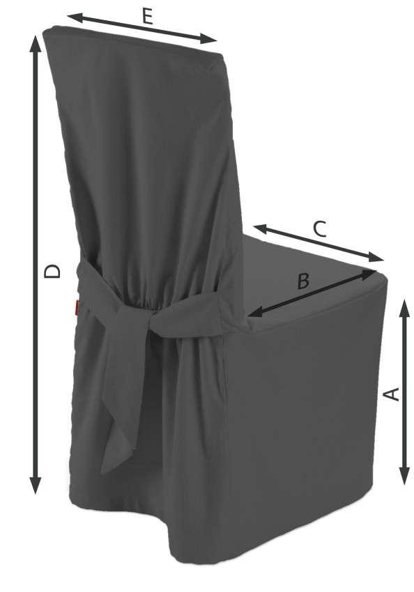 Sukienka na krzesło 45x94 cm w kolekcji Quadro, tkanina: 136-14