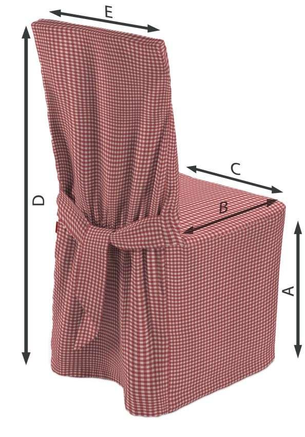Sukienka na krzesło w kolekcji Quadro, tkanina: 136-15