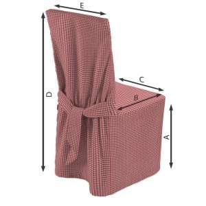 Sukienka na krzesło 45x94 cm w kolekcji Quadro, tkanina: 136-15