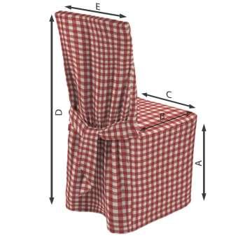 Stuhlhusse von der Kollektion Quadro, Stoff: 136-16