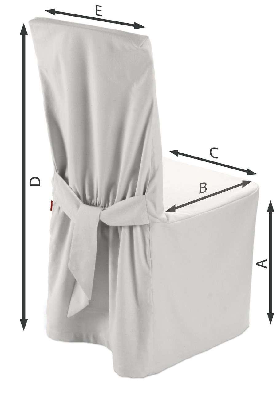 Sukienka na krzesło 45x94 cm w kolekcji Cotton Panama, tkanina: 702-34
