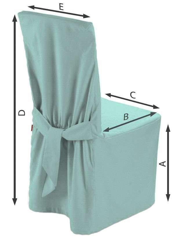 Sukienka na krzesło 45x94 cm w kolekcji Loneta, tkanina: 133-32