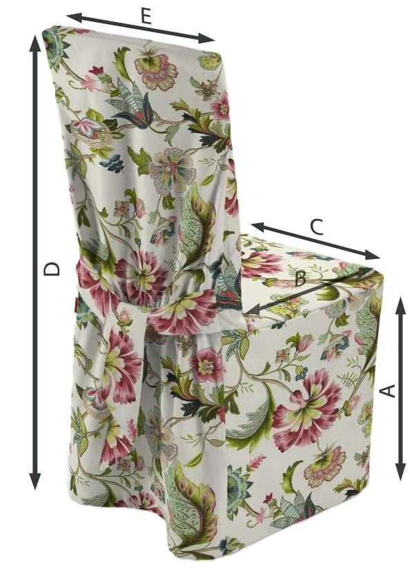 Sukienka na krzesło 45x94 cm w kolekcji Londres, tkanina: 122-00