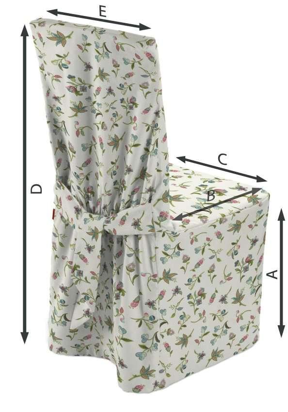 Sukienka na krzesło 45x94 cm w kolekcji Londres, tkanina: 122-02