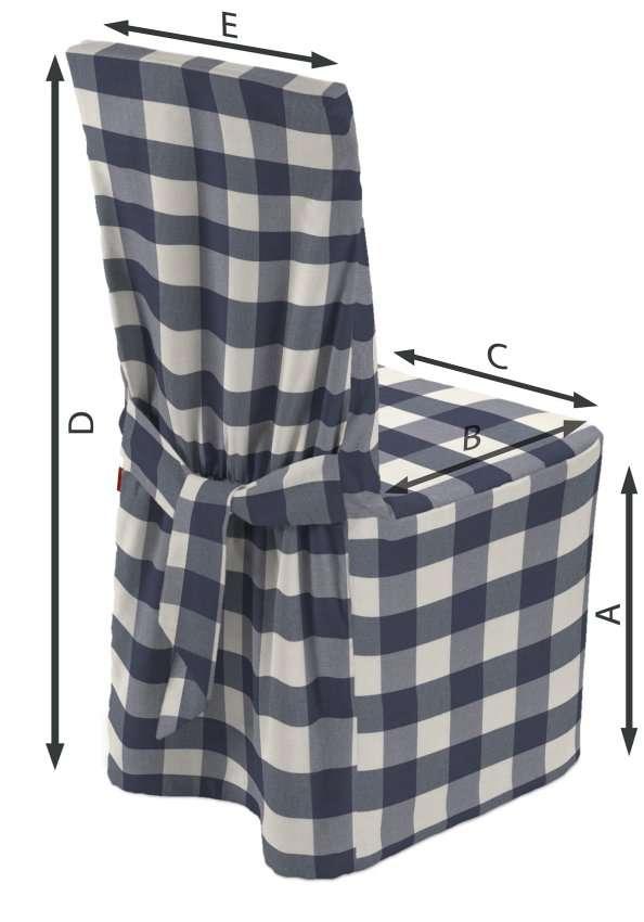 Stuhlhusse 45 x 94 cm von der Kollektion Quadro, Stoff: 136-03