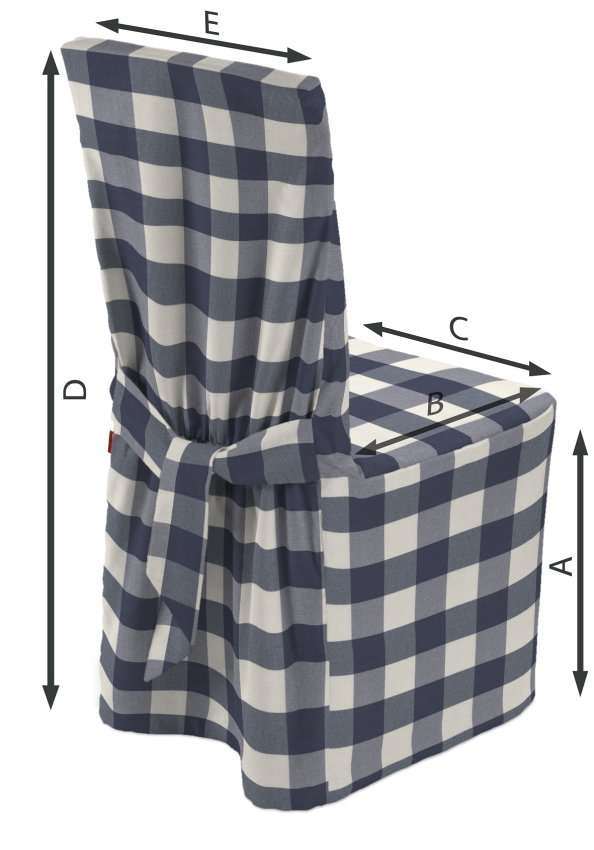 Sukienka na krzesło 45x94 cm w kolekcji Quadro, tkanina: 136-03