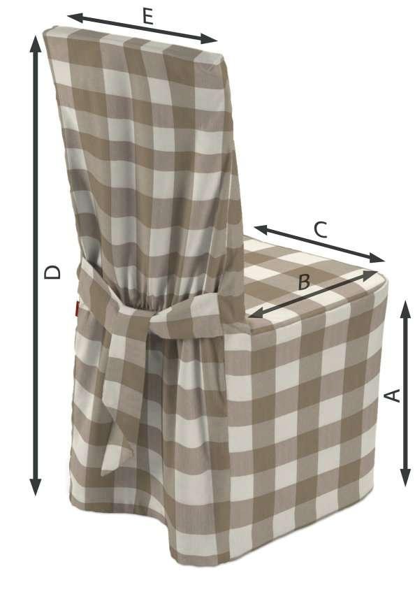 Stuhlhusse 45 x 94 cm von der Kollektion Quadro, Stoff: 136-08