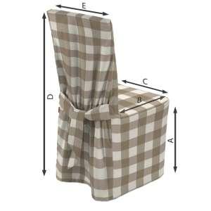 Sukienka na krzesło 45x94 cm w kolekcji Quadro, tkanina: 136-08