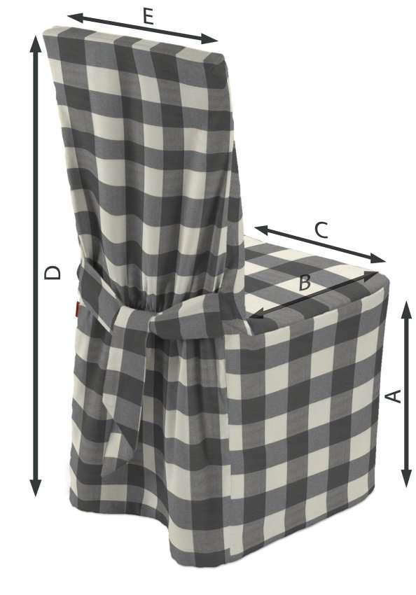 Stuhlhusse 45 x 94 cm von der Kollektion Quadro, Stoff: 136-13