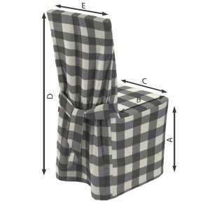 Sukienka na krzesło 45x94 cm w kolekcji Quadro, tkanina: 136-13