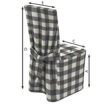 Stuhlhusse von der Kollektion Quadro, Stoff: 136-13