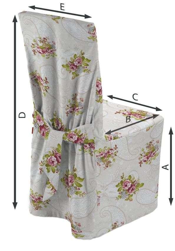 Sukienka na krzesło 45x94 cm w kolekcji Flowers, tkanina: 311-15