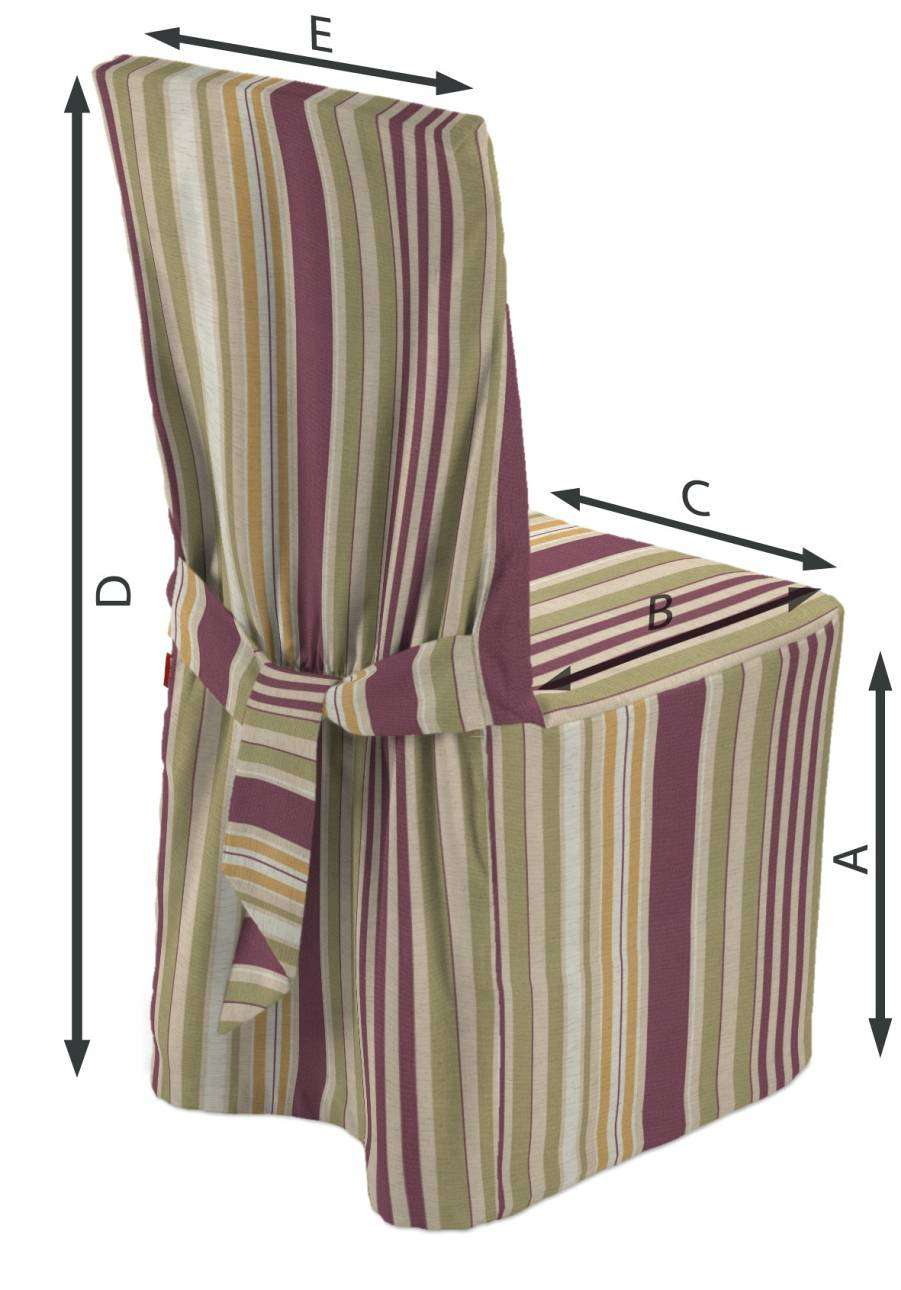 Standard and made to measure chair cover in collection Londres, fabric: 122-09