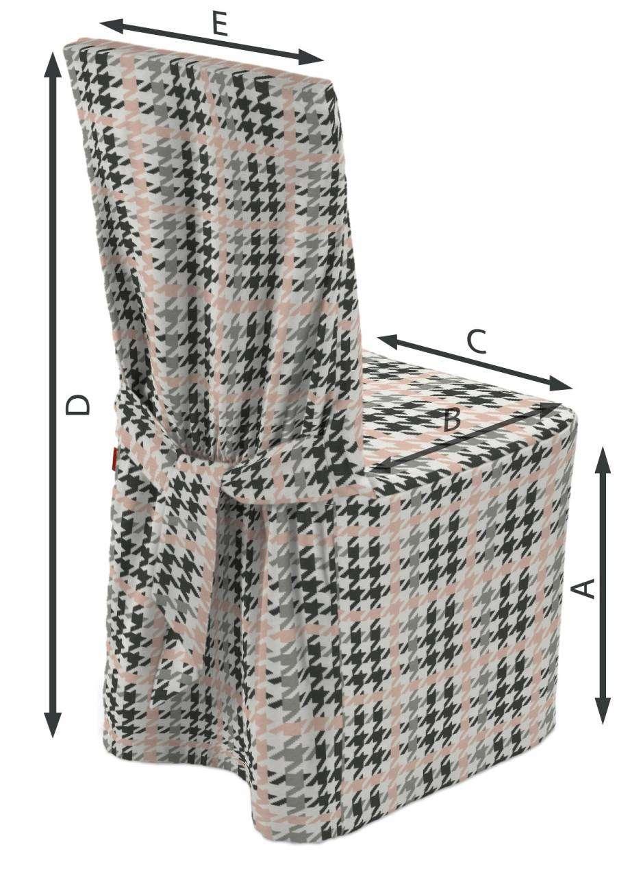 Sukienka na krzesło 45x94 cm w kolekcji Brooklyn, tkanina: 137-75
